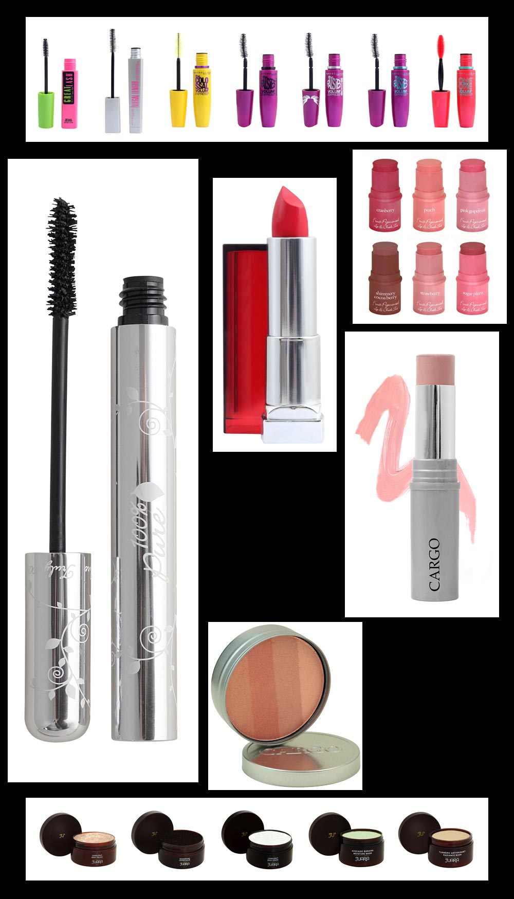 Cosmetics Product Photography - Mascara, Lip Sticks, Clushes, Cremes