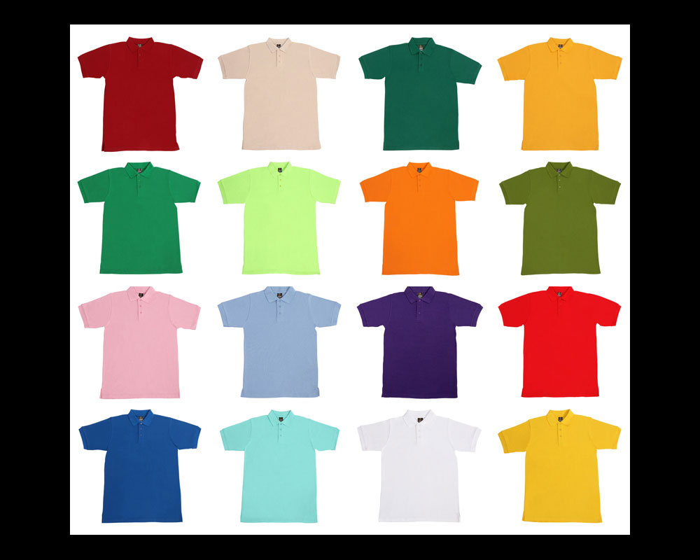 Product Photos of Lot of Colourful Polo Shirts