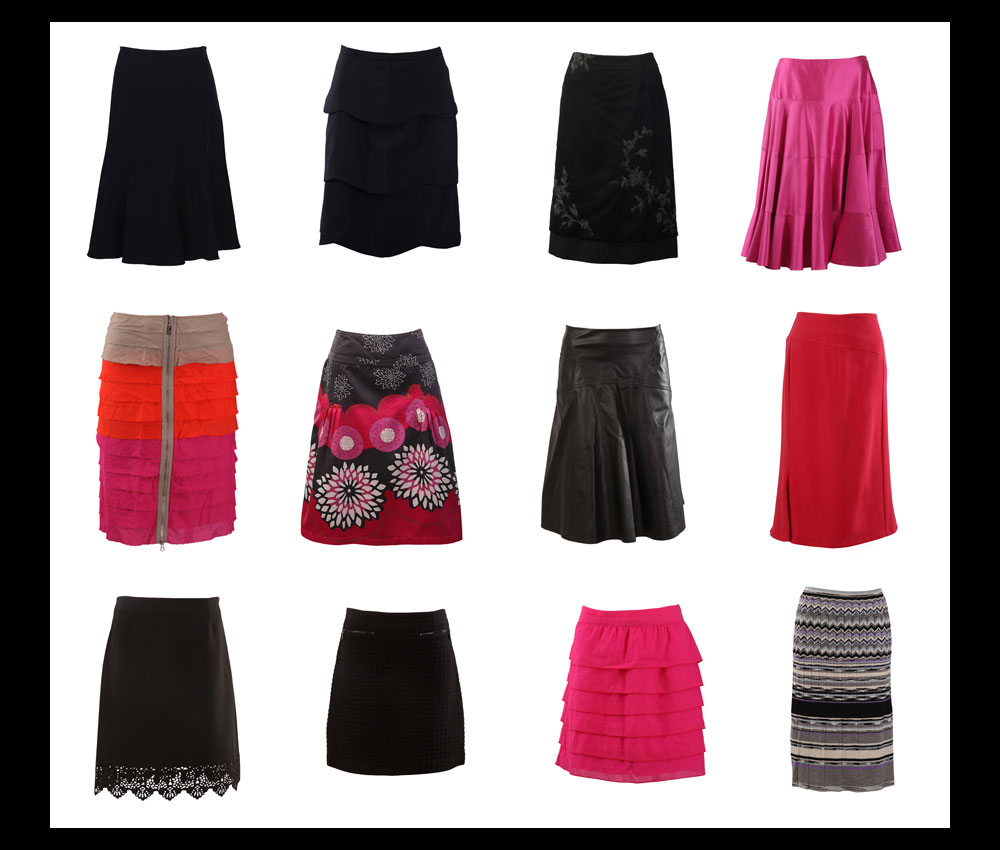 Photos of Various Skirts for ECommerce