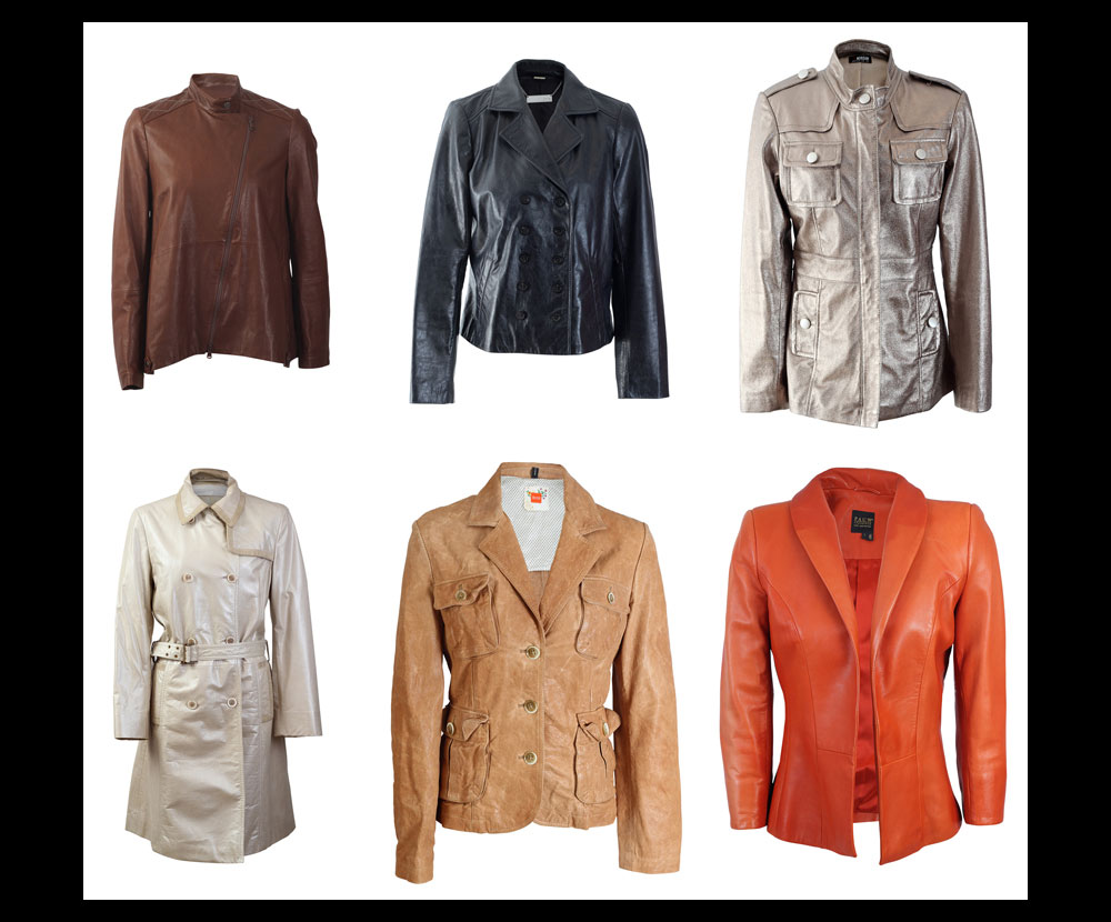 Product Photography of Various Leather Jackets