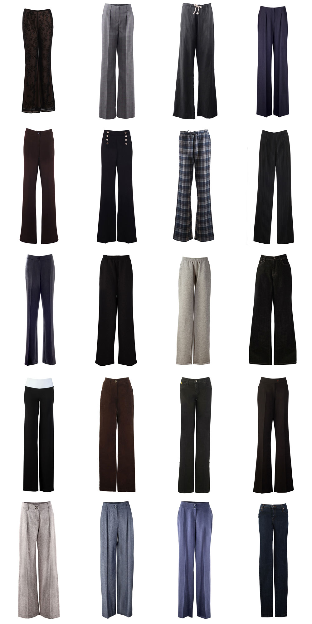 Photos of Various Trousers and Pants