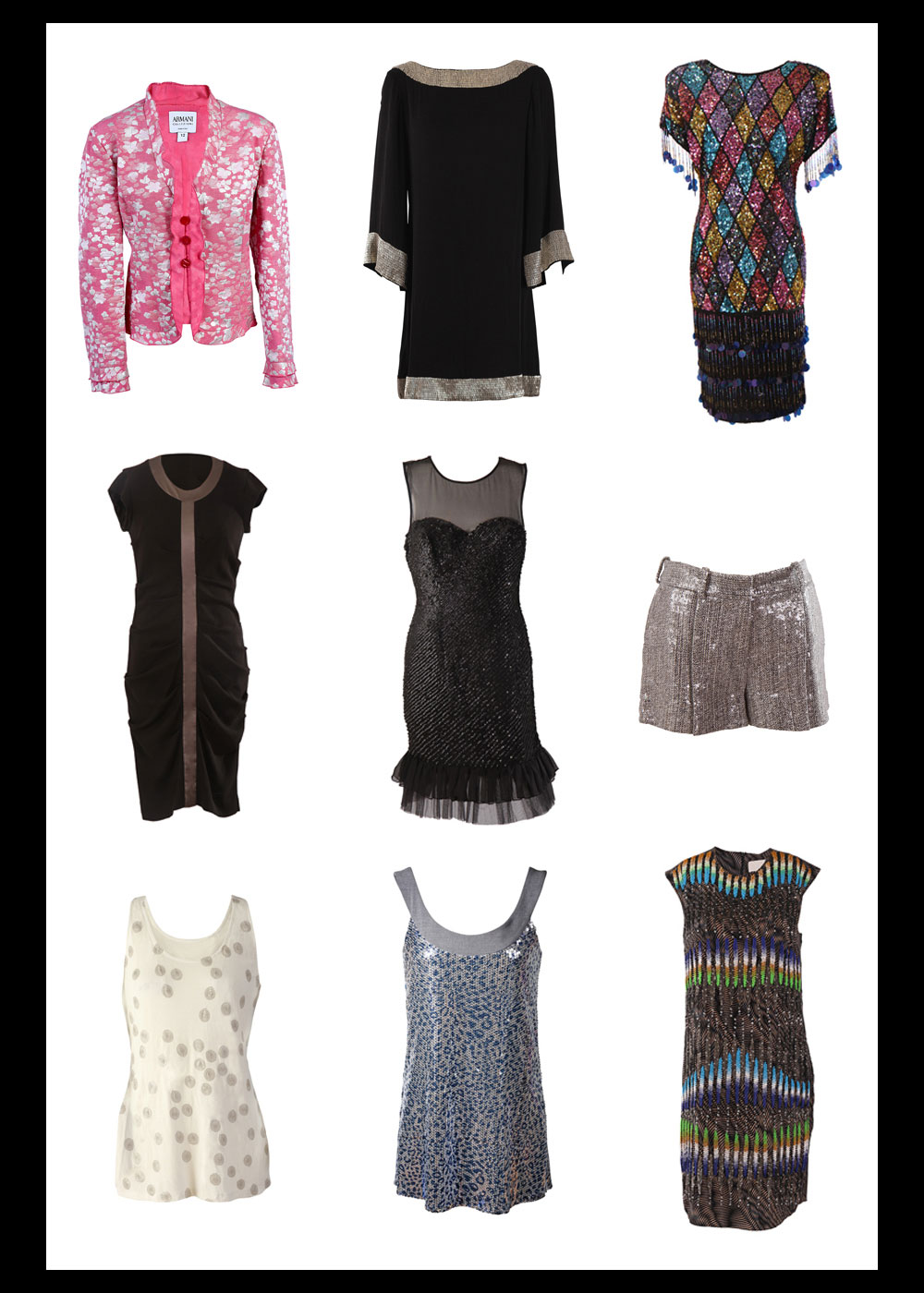 Product ECommerce Photography of Beaded and Sequin Garments