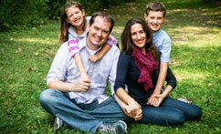 Family Portrait Session in a Park