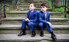 Twin Outdoor First Communion Portraits