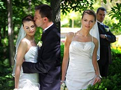 Toronto Wedding Photography - Two poses of Bride and Groom