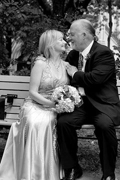 Mature Wedding Photography - Mature just married couple