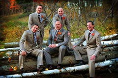 Toronto Wedding Photography - Groom and Groomsmen posed fall portrait