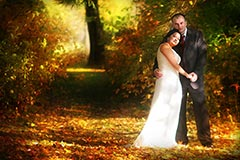 Toronto Wedding Photography - Newly weds in fall colours